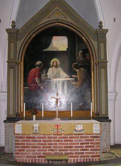 Løderup Kirke, altertavle, carl Bloch.jpg