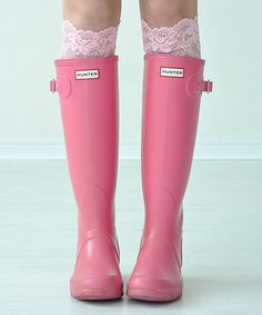 This Pink Layla Lace Boot Cuffs is perfect! #zulilyfinds