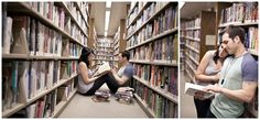 library engagement session    photography by: www.amandadoublin.com