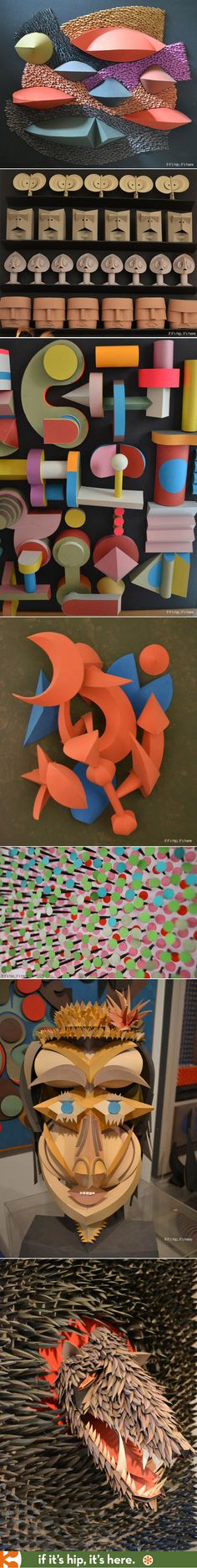 The extraordinary paper sculptures of Mid-Century Modern design legend Irving Harper. |  http://www.ifitshipitshere.com/extraordinary-paper-sculptures-mid-century-modern-design-legend-irving-harper/