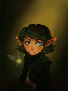 Forest Maiden by lulles ~ Saria Legend Of Zelda Characters, Fantasy Characters, Female Characters, Fictional Characters, Female Character Design, Character Art, Character Inspiration, Saria Zelda, My Father's Daughter