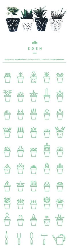 How to draw and doodle succulents for your bullet journal, planner or sketchbook. - Bullet journal İdeas in 2019 Icon Design, Web Design, Logo Design, Resume Design, Design Ideas, Flat Design, Design Layouts, Icon Set, All Icon