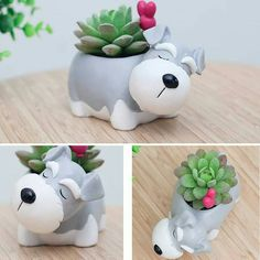 Comes as one piece. Each planter averages about x x inches in size. Refer to product image with sizing listed in cm. Product delivered in weeks. Cute Polymer Clay, Polymer Clay Crafts, Diy Clay, House Plants Decor, Plant Decor, Diy And Crafts, Arts And Crafts, Flower Pot Design, Clay Figurine
