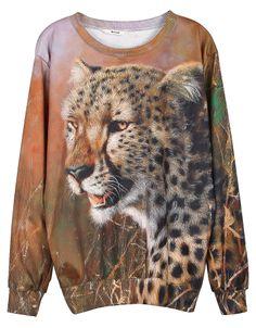 Sudadera Unisexo Leopardo cazador-Marrón EUR€25.00