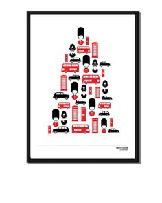 london city icon collection, six designs by i love art london   notonthehighstreet.com