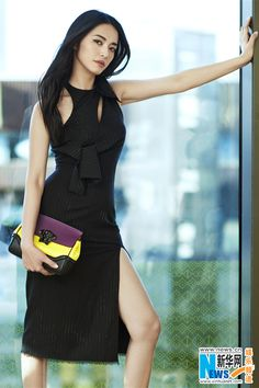 d2548c018041 Actress Yao Chen models items from the Versace Spring Summer 2016  collection in a new campaign.