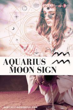 The Aquarius Moon Woman is Eccentric & Interesting | Basically Wonderful Moon In Aquarius Woman, Aquarius Moon Sign, Virgo, Moon Signs, Birth Chart, Eccentric, Women, Virgos, Woman
