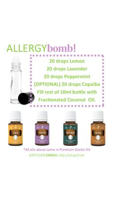 Young Living Allergy Bomb roller-ball recipe