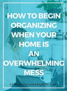 Is your house a horrible mess? Have you been overwhelmed with clutter but don't know where to start cleaning your home? These step by step tips will help you clean your home in just 1 day! Do It Yourself Organization, Clutter Organization, Home Organization Hacks, Organizing Your Home, Organizing Tips, Organising, Decluttering Ideas, Organization Quotes, Paper Organization