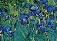 Irises by Vincent Van Gogh that painted this at Saint Paul-de-Mausole in Saint-Rémy-de-Provence, France in 1889, only one year before his death. In 1987, it became the most expensive painting to date. It was sold for $ 54,000,000 to Alan Bond and later resold to the Getty Museum.