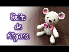 Osito de filigrana, Quilling teddy bear Quilling Videos, Arte Quilling, Quilling Designs, Paper Quilling, Diy Paper, Paper Art, Paper Crafts, Diy Crafts, Quilling Earrings