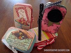 Recycled Altoid Tins...what a cute way to carry business cards or give gift cards!  Note to self - start collecting for the holidays...