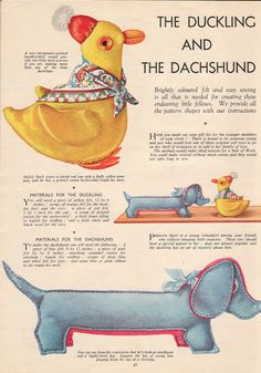 How To Make Vintage Stuff Toys: The Ducking and The Dachshund - I'm going to make me some doxies!