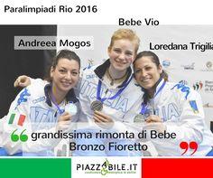 Beatrice Vio Loredana Trigilia Andreea Mogos bronzo scherma paralimpiadi Rio 2016  piazzabile.it
