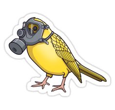 The Birds Aren't Singing / Miners once took canaries down the mines to detect dangerous gases, if the birds stopped singing or even died it was a sure sign that there was a critical level of gas and they would make their way to the surface. Globally we are producing excessive amounts of CO2 which is choking the planet contributing to global warming, are the birds going to warn us of our impending fate? / Get it on a sticker! • Also buy this artwork on stickers and apparel....