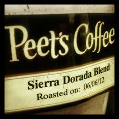 Our coffee of choice this week? Sierra Dorada. A Peet's classic last offered in 2007, it's a rich, full-bodied cup available online only for the month of June.