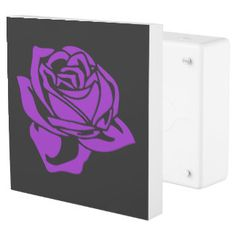 Black and Purple Rose Outlet Cover