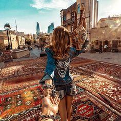 Follow me to old town in Baku