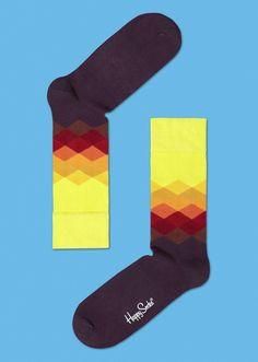 Faded Diamonds Socks for Men & Women at Happysocks.com