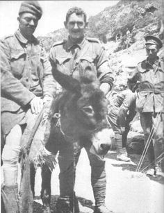 """Private Simpson and his donkey """"Duffy"""""""