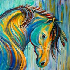 """Loyal One by Theresa Paden Acrylic paint ~ 36"""" x 36"""""""