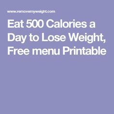 Free menu and Shopping list to eat 1000 calories a day to ...