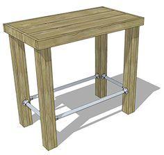 Maak zelf een statafel van steigerhout | Praxis