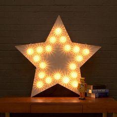 Vintage Fairground Light Up Star