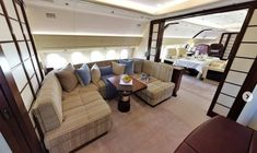 M-KATE Airbus A319 interior (Rybolovlev) Dmitry Rybolovlev, House Yacht, Aviation World, As Monaco, Private Jets, Couch, Interior, Furniture, Business