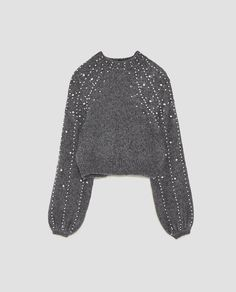 Image 8 of CROPPED SWEATER WITH FAUX PEARLS from Zara