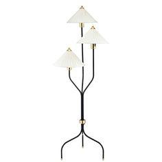 Floor Lamp 2599 Brass/Black   Svenskt Tenn