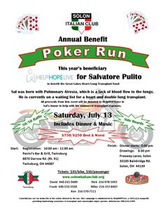 Benefit Poker Run! Poker Run, Gambling Addiction, Fundraising Events, Benefit, Running, Places, Keep Running, Why I Run, Lob