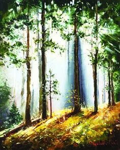'New Dawn' by Gleb Goloubetski, Oil on Canvas, 100cmx80cm