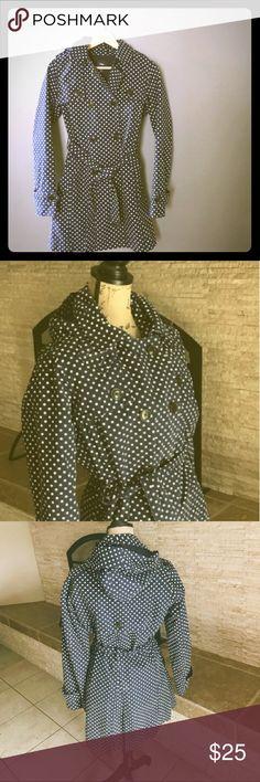 Navy polka dot GAP trench coat Excellent condition, has belt GAP Jackets & Coats Trench Coats