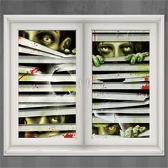 zombie put these on your windows and it will look like zombies have halloween scenehalloween decorationsscene
