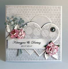 This card is a most attractive one, but shouldn't have the flower on bottom righthand side competing against the beautiful posy, so make this one smaller & it's HEAVENLY!!!