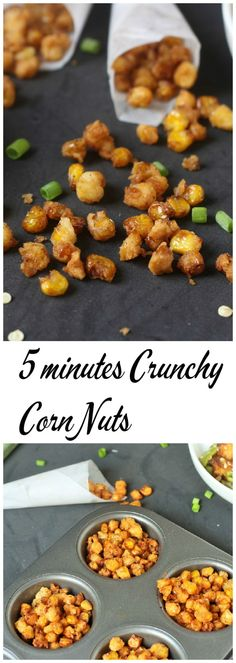 The taste of the crunchy corn nuts is really amazing. It gives out a really crispy flavor which the kids really enjoy. try the amazing crunchy corn nuts Corn Recipes, Quick Recipes, Indian Food Recipes, Cooking Recipes, Vegan Recipes, Corn Nuts Recipe, Crispy Nuts Recipe, Corn Snacks, Appetisers