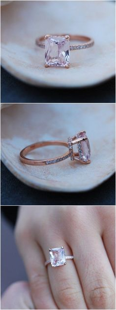 Peach Sapphire Engagement Ring / http://www.himisspuff.com/engagement-rings-wedding-rings/6/