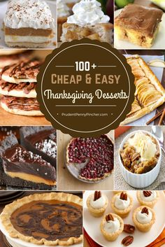 100 Easy & Cheap Thanksgiving Desserts More