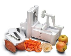 50 Useful Kitchen Gadgets You Didn't Know Existed------This veggie slicer turns your fruit and vegetables into something extraordinary! You can make curly fries, vegetable noodles, or fancy toppings for just about any dish. It has over 1,600 positive reviews on Amazon.
