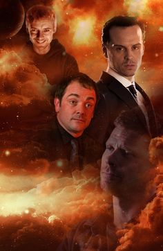 SuperWhoLock Villians- The Master, Moriarty, Crowley, and Lucifer #supernatural is the badass show of badass villains they had to list two of them!