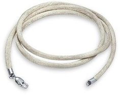 Bling Jewelry Grey Silk Cord Silver Plated Lobster Claw Clasp Necklace 20 Inches.