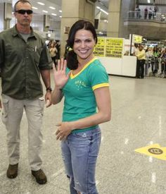 Lana Parrilla e Rebecca Mader, de 'Once Upon a Time', chegam ao Brasil (Francisco Silva / AgNews)