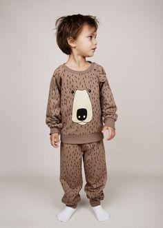 Mini Rodini Bear Aop Sweatshirt   Scandinavian Minimall