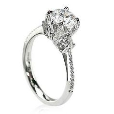 Parade 18 Karat White Gold Semi-Mount Diamond Engagement Ring