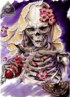 skull and skeleton art