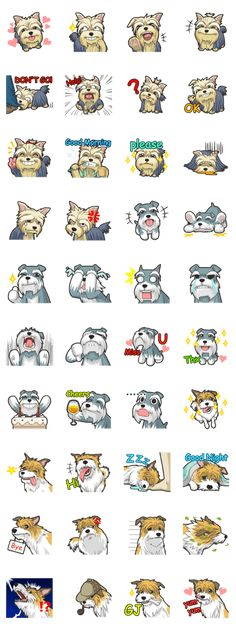 Cute sticker for Terrier (Yorkshire, Schnauzer, Parson Russell) lovers, show your feelings through the cute dog~