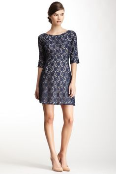 A.B.S. by Allen Schwartz Split Elbow Sleeve Lace Knit Dress on HauteLook: Can you tell I have a thing for lace.