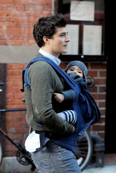 Orlando Bloom with his son.