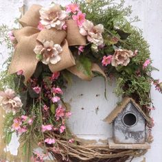 Spring Wreath Easter Wreath Summer Wreath Front от FlowerPowerOhio